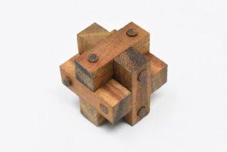 クロスロックパズル【木製パズル】/木製ゲーム/タイ雑貨/Cross_Lock_Puzzle