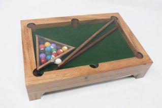 ミニビリヤード【木製パズル】/木製ゲーム/タイ雑貨/Mini_Billiard