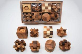 木製ゲーム8個セット【木製パズル】/木製ゲーム/タイ雑貨/woodengame_set8