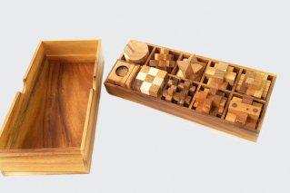 木製ゲーム10個セット【木製パズル】/木製ゲーム/タイ雑貨/woodengame_set10