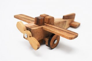 飛行機パズル【木製パズル】/木製ゲーム/タイ雑貨/Propellerplane_Puzzle