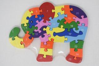 <img class='new_mark_img1' src='https://img.shop-pro.jp/img/new/icons7.gif' style='border:none;display:inline;margin:0px;padding:0px;width:auto;' />カラフルパズルゾウ【木製パズル】/知育玩具/木製ゲーム/タイ雑貨/Colorful Puzzle Elephant