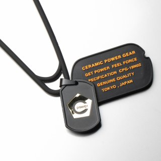 CPG SILICON×STAINLESS DOG-TAG NECKLESS(Black×Orange)