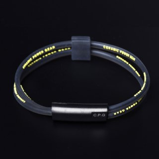 STAINLESS TWIN BRACELET(Clear Black x Yellow)