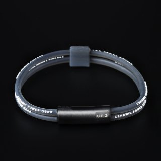 STAINLESS TWIN BRACELET(Clear Black x White)