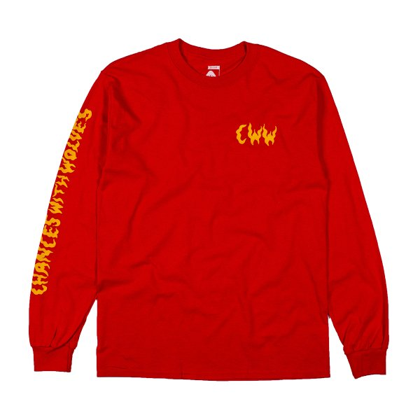 <img class='new_mark_img1' src='https://img.shop-pro.jp/img/new/icons16.gif' style='border:none;display:inline;margin:0px;padding:0px;width:auto;' />CWW LONG SLEEVE TEE - RED