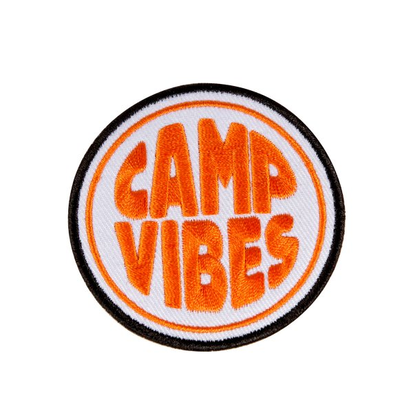 CAMP VIBES IRON-ON PATCHES - ORANGE