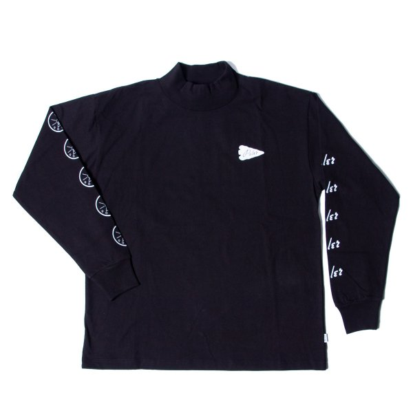 90'S ARROWHEAD-GOLDEN CIRCLE MOCK NECK - BLACK