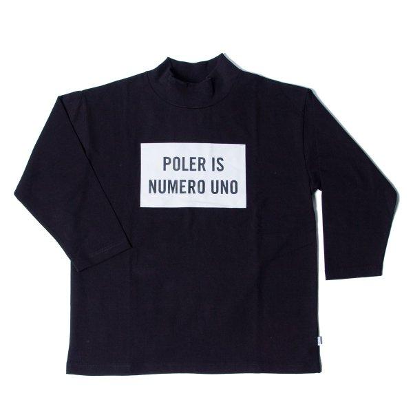 NUMERO-UNO BOX JERSEY MOCK 8/10 TEE - BLACK