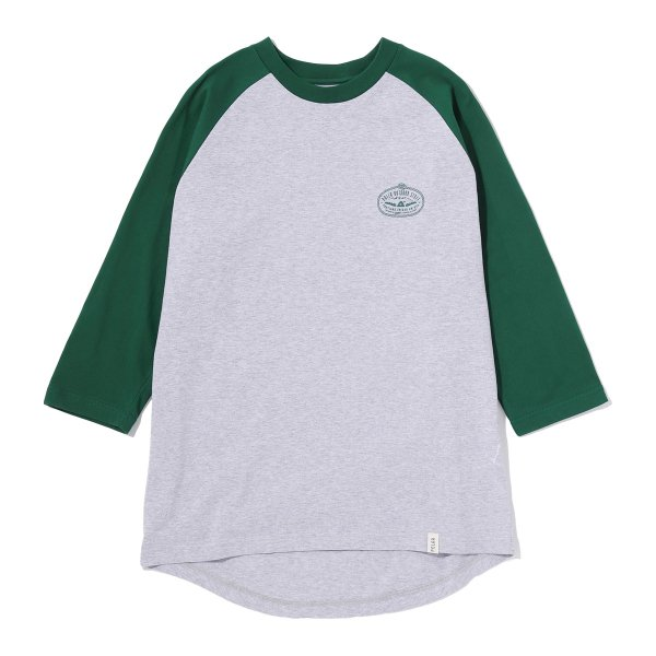 <img class='new_mark_img1' src='https://img.shop-pro.jp/img/new/icons16.gif' style='border:none;display:inline;margin:0px;padding:0px;width:auto;' />7/10 VENN DIAGRAM RAGLAN TEE - GREEN/HEATHER GRAY