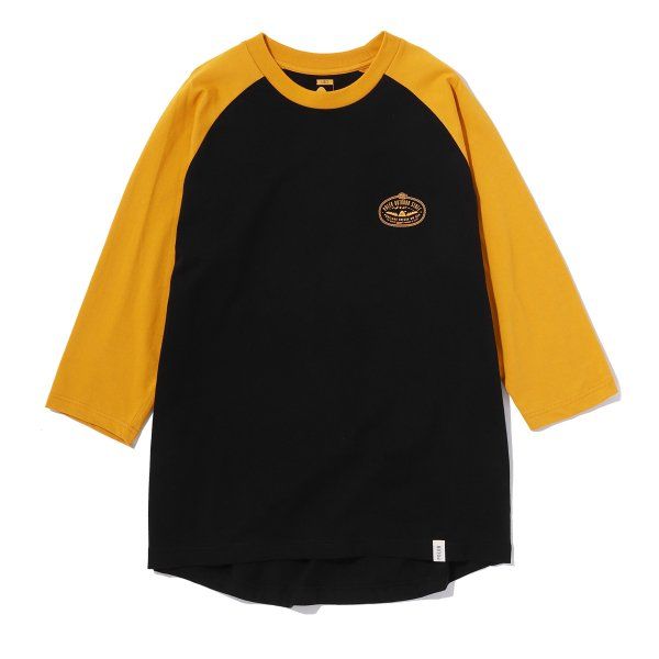 <img class='new_mark_img1' src='https://img.shop-pro.jp/img/new/icons16.gif' style='border:none;display:inline;margin:0px;padding:0px;width:auto;' />7/10 VENN DIAGRAM RAGLAN TEE - MUSTERD/BLACK