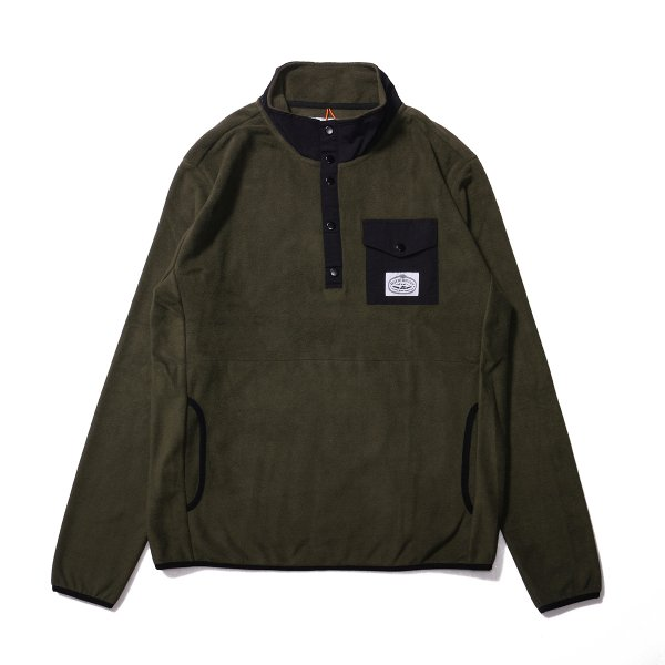 <img class='new_mark_img1' src='https://img.shop-pro.jp/img/new/icons16.gif' style='border:none;display:inline;margin:0px;padding:0px;width:auto;' />SNAP FLEECE - OLIVE/BLACK