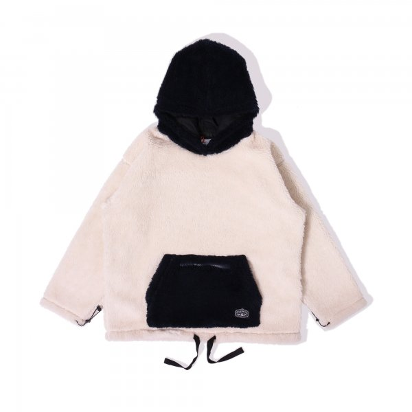<img class='new_mark_img1' src='https://img.shop-pro.jp/img/new/icons16.gif' style='border:none;display:inline;margin:0px;padding:0px;width:auto;' />90'S SHEEP BOA FLEECE HOODIE - NATURAL/NAVY