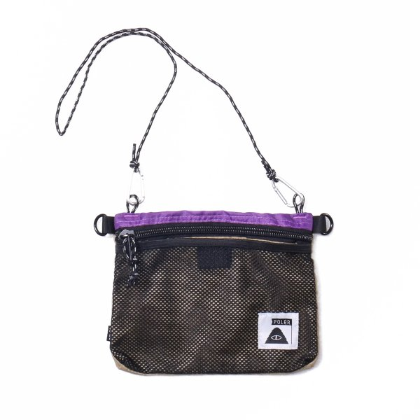 STUFFABLE POUCH - PURPLE/BEIGE