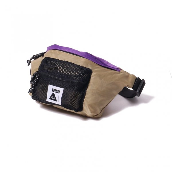 STUFFABLE FANNY PACK - PURPLE/BEIGE