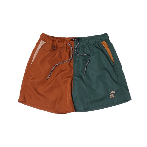 <img class='new_mark_img1' src='https://img.shop-pro.jp/img/new/icons16.gif' style='border:none;display:inline;margin:0px;padding:0px;width:auto;' />SUMMIT CRAZY PATTERN 2WAY BAGGY SHORTS - BROWN