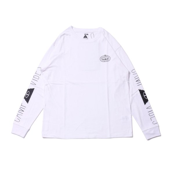 CAMP VIBES L/S TEE - WHITE