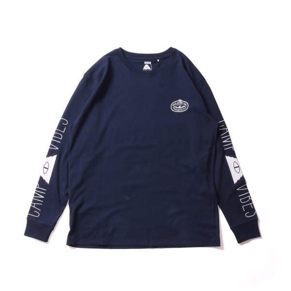 CAMP VIBES L/S TEE - NAVY
