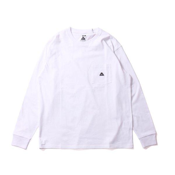 EYE PATCH  POCKET L/S TEE - WHITE