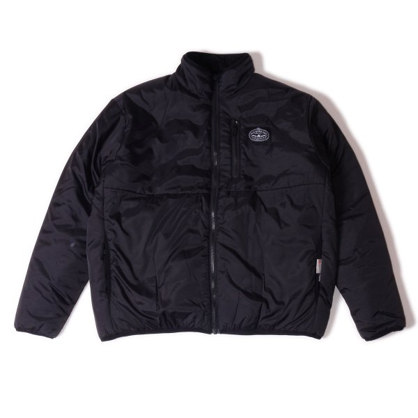 <img class='new_mark_img1' src='https://img.shop-pro.jp/img/new/icons16.gif' style='border:none;display:inline;margin:0px;padding:0px;width:auto;' />REVERSIBLE NYLON PUFF JACKET - BLACK/BLACK SHEEP