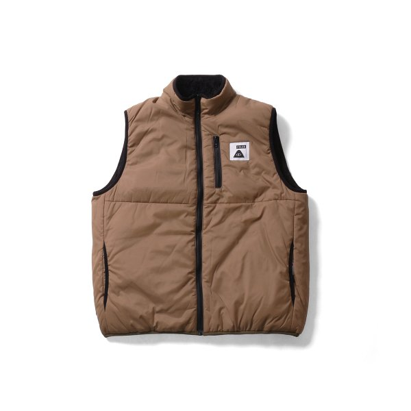 REVERSIBLE POLER PUFF VEST - COYOTE/BLACK SHEEP