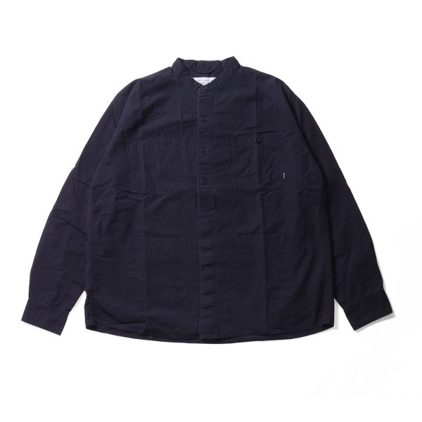 COTTON RIP RAGLAN SHIRT JACKET - NAVY