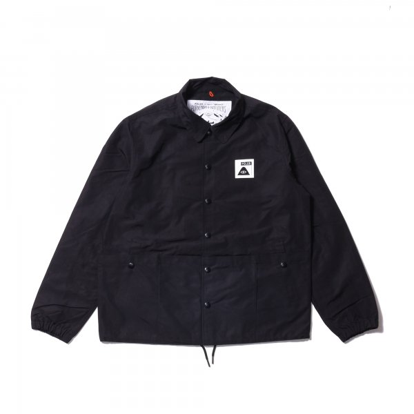 SUMMIT POCKET COACH JACKET - BLACK