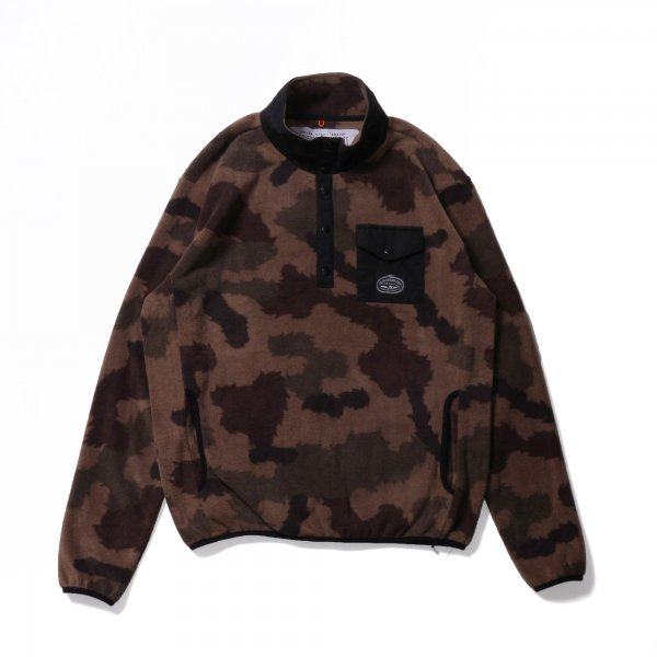 SNAP FLEECE - FURRY CAMO/BLACK