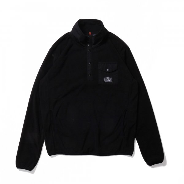 SNAP FLEECE - BLACK/BLACK