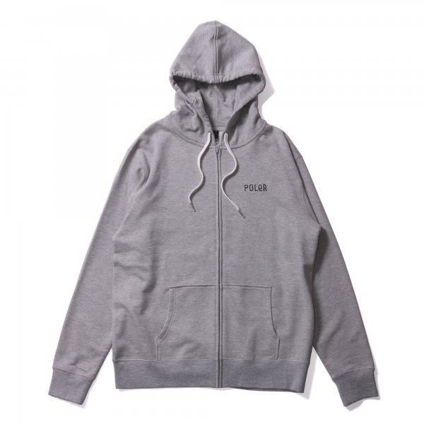 VENN DIAGRAM ZIP HOODIE - HEATHER GRAY