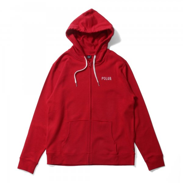 VENN DIAGRAM ZIP HOODIE - DARK RED