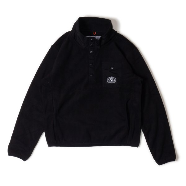<img class='new_mark_img1' src='https://img.shop-pro.jp/img/new/icons16.gif' style='border:none;display:inline;margin:0px;padding:0px;width:auto;' />KIDS SNAP FLEECE - BLACK/BLACK