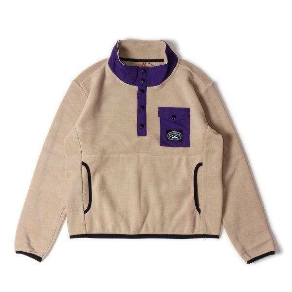 <img class='new_mark_img1' src='https://img.shop-pro.jp/img/new/icons16.gif' style='border:none;display:inline;margin:0px;padding:0px;width:auto;' />KIDS SNAP FLEECE - DARK BEIGE/BLACK