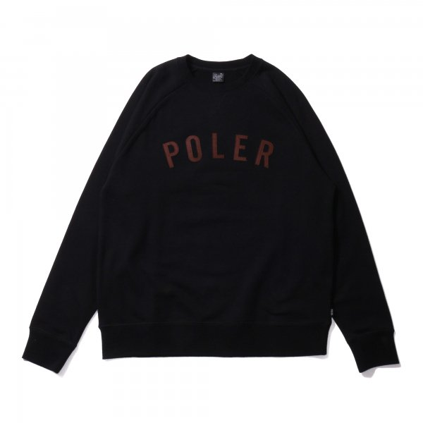STATE APPLIQUE RAGLAN CREW - BLACK