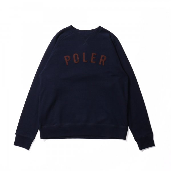 STATE APPLIQUE RAGLAN CREW - NAVY