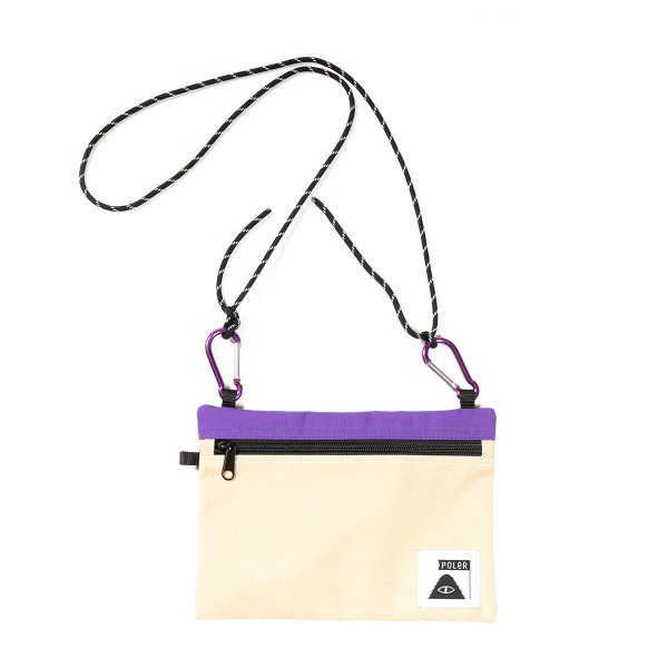 <img class='new_mark_img1' src='https://img.shop-pro.jp/img/new/icons5.gif' style='border:none;display:inline;margin:0px;padding:0px;width:auto;' />UTILITY SACOCHE - BEIGE / PURPLE