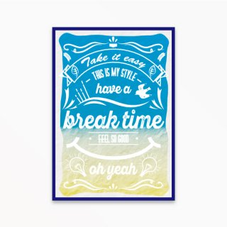 break time blue