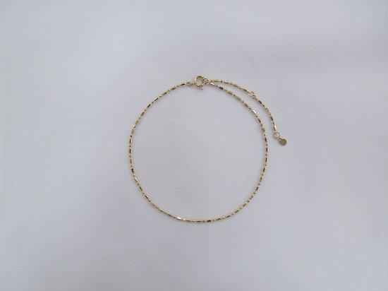 plum chain anklet