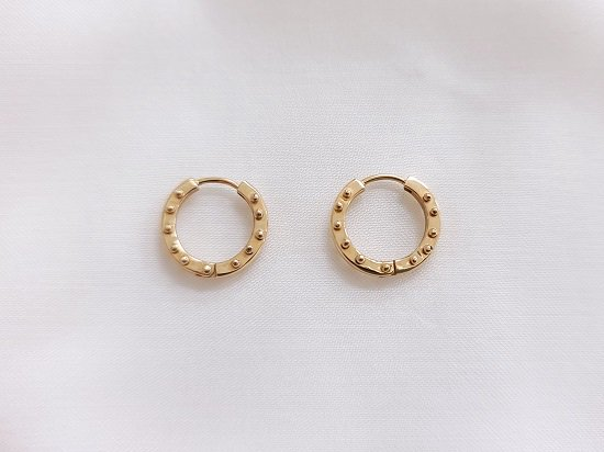 beaded dot hoop 【order item】