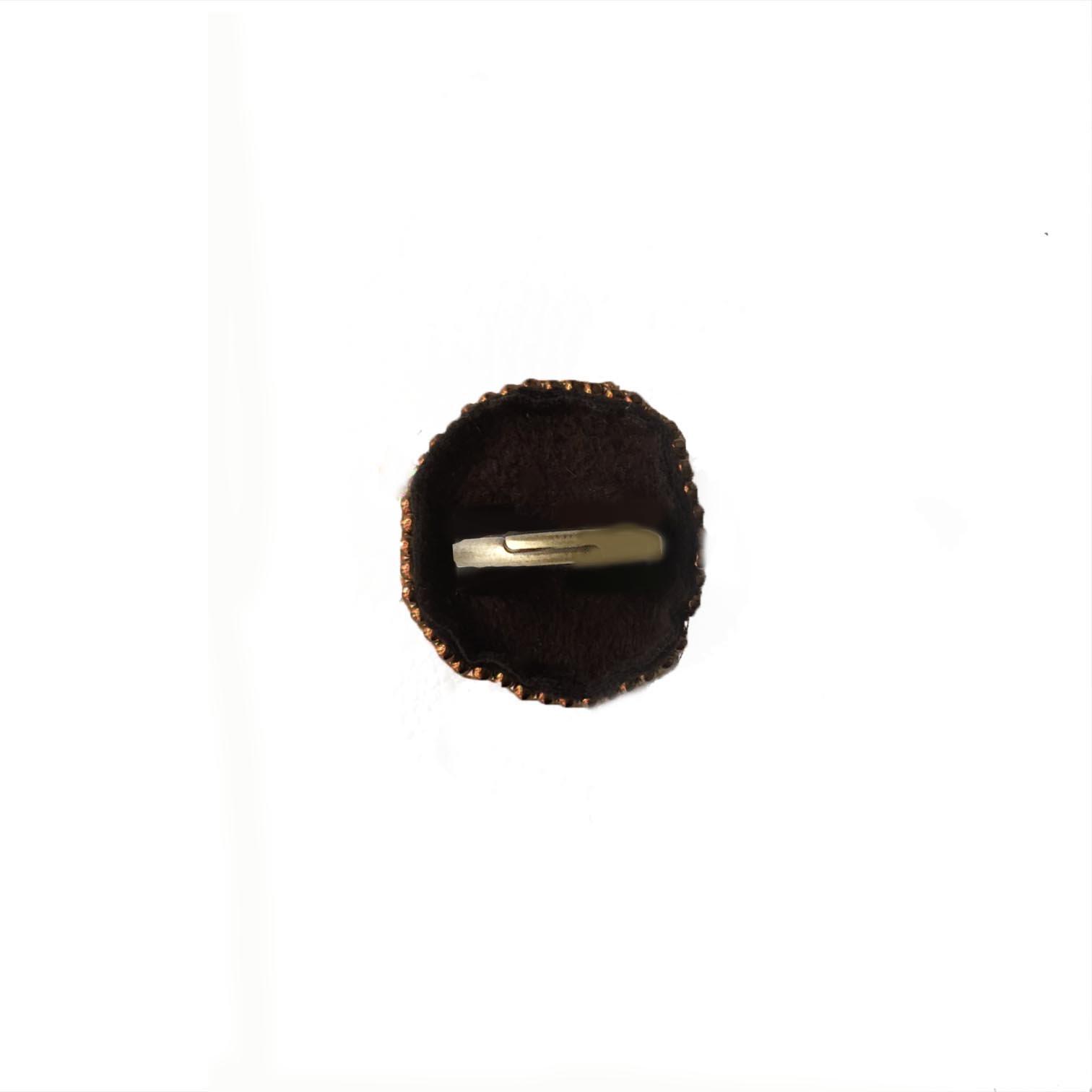 アバロンシェル ビーズ刺繍リング  大ぶり シェル 天然石 ビーズ リング(指輪)