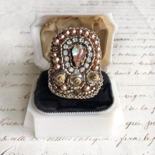 サフィレットリング 刺繍 指輪 サフィレット ヴィンテージ  ビーズリング(指輪)