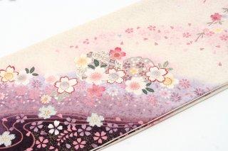 レンタル 振袖 白・ピンク 白・ピンクの桜