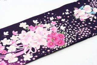 レンタル 振袖 紫 白い花 カトレア