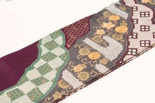 レンタル 振袖 紫 古典 金の刺繍