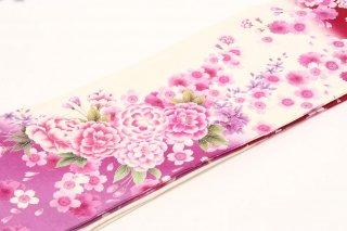 レンタル 振袖 赤・白 桜 裾薄紫
