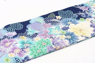 レンタル 振袖 ブルー 大きな花総柄 (ViVi)