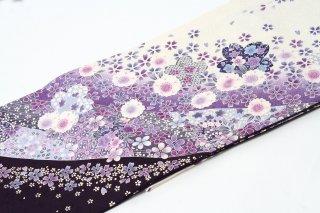 レンタル 振袖 紫・白 小さい桜柄