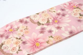 レンタル 振袖 ピンク 白い花 総柄