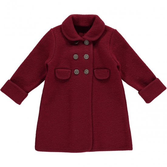 <img class='new_mark_img1' src='https://img.shop-pro.jp/img/new/icons14.gif' style='border:none;display:inline;margin:0px;padding:0px;width:auto;' />Amaia Kids - Razorbil coat - Burgundy アマイアキッズ - ウールコート