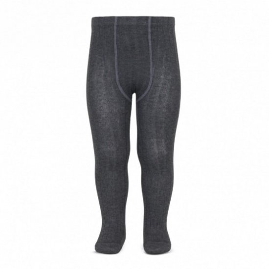 <img class='new_mark_img1' src='https://img.shop-pro.jp/img/new/icons14.gif' style='border:none;display:inline;margin:0px;padding:0px;width:auto;' />Amaia Kids - Ribbed tights - Dark Grey アマイアキッズ - タイツ